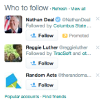 Creating Promoted Accounts example of Nathan Deal Promoted Account