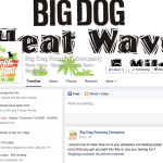 Big Dog Running Company Facebook page example