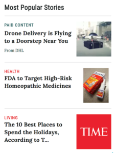 Time In-Feed Ads