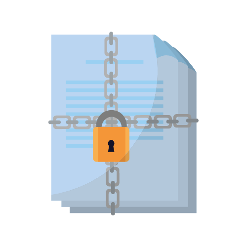 Image of a lock securing files