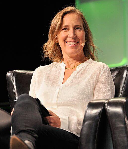 Susan Wojcicki speaking onstage during TechCrunch Disrupt SF 2016 at Pier 48 on September 14, 2016 in San Francisco, California.