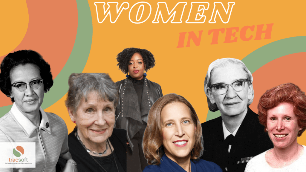 A collage of famous women in tech