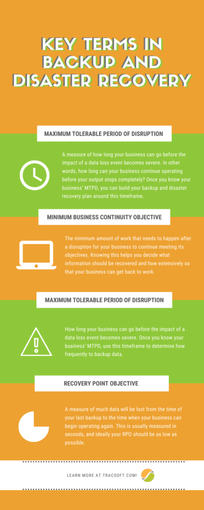 Key terms in backup and disaster recovery