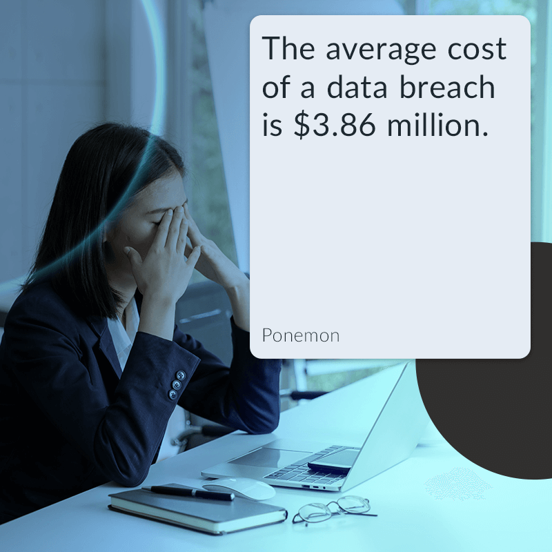 The average cost of a data breach is $3.86 million