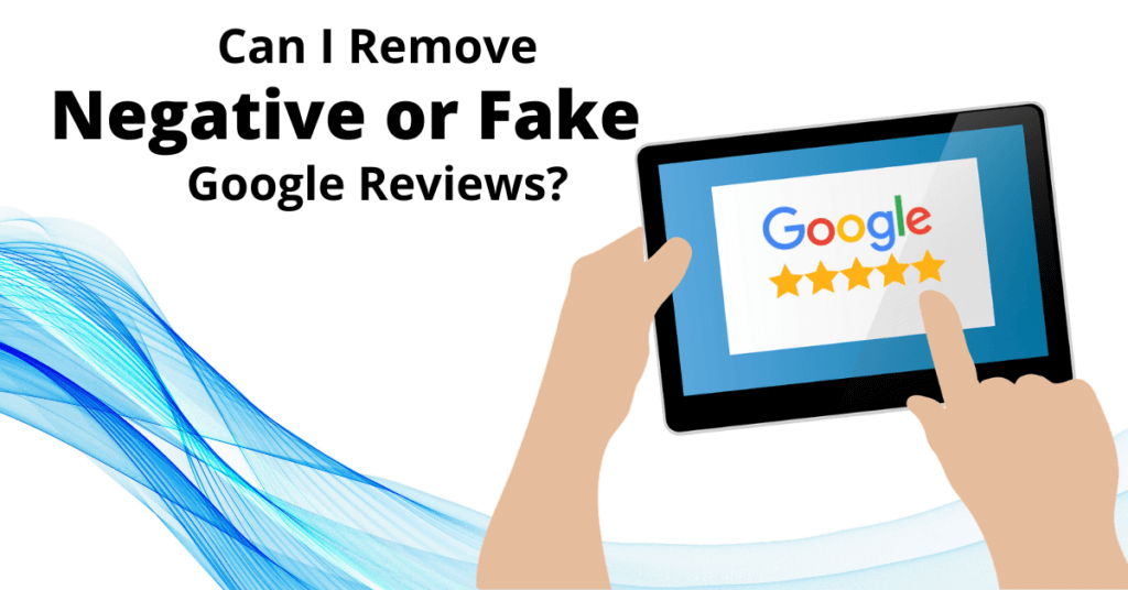 A hand selecting a star rating on Google Reviews