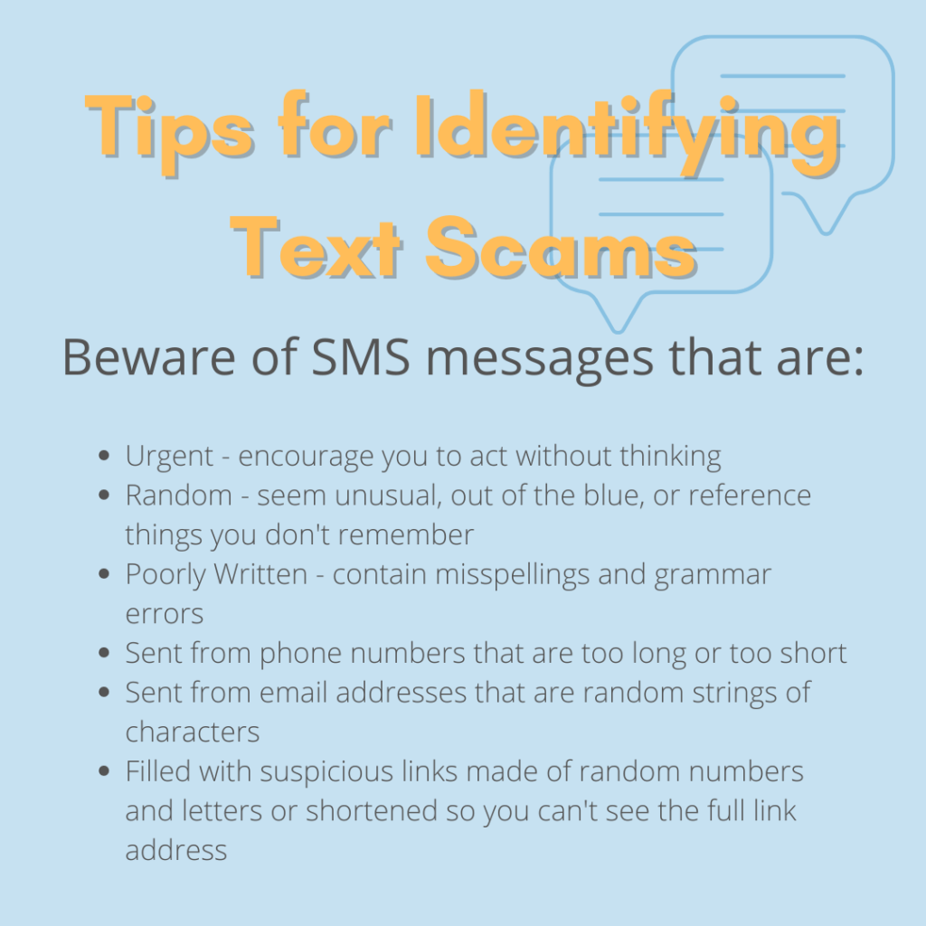 Tips for Identifying Text Scams